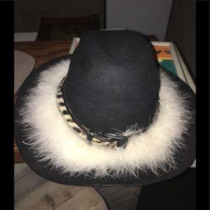 Black real fur Cowboy hat